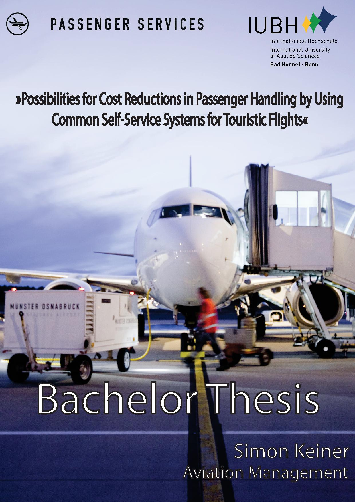 aviation thesis Part of the aviation safety and security commons this thesis - open access is  brought to you for free and open access by scholarly commons it has been.